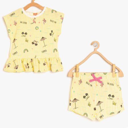 Koton baby shorts t shirt girl yellow 49324 17330 instargam chadomoda 1200x1200 1 m 450x450 - [:ru]Комплект: футболка и шорты[:ua]Комплект: футболка і шорти[:en]Set: t-shirt and shorts[:]