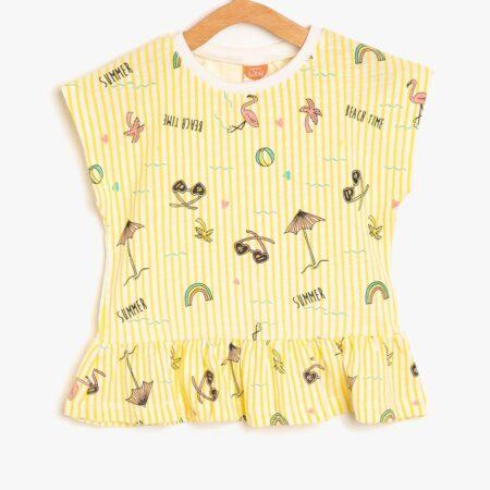 Koton baby t shirt girl yellow 8YKG17330OK151 chadomoda 1200x1200 1 m 450x450 - [:ru]Комплект: футболка и шорты[:ua]Комплект: футболка і шорти[:en]Set: t-shirt and shorts[:]