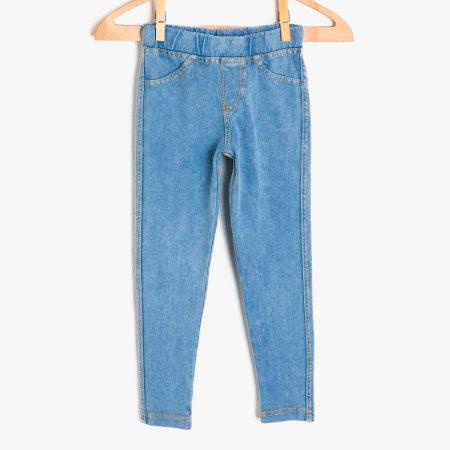 Koton leggings 9KKG47948OK720 girl blue chadomoda 1200x1200 1 opt 1 450x450 - Леггинсы