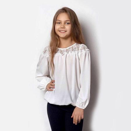 Mevis bluza 2359 2 girly white chadomoda 1200x1200 1 opt 1 450x450 - Блузка