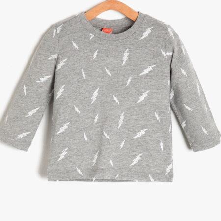 Koton t shirt 9KMB18456ZK08A boy grey chadomoda 1200x1200 1 opt 450x450 - Футболка