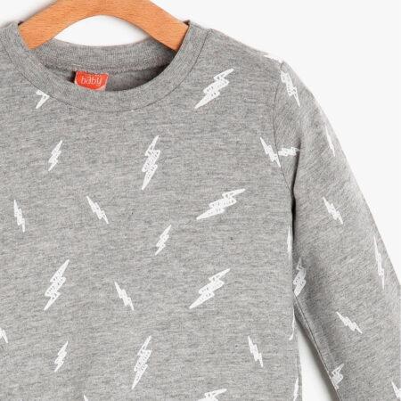 Koton t shirt 9KMB18456ZK08A boy grey chadomoda 1200x1200 3 opt 450x450 - Футболка